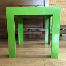 parsons table etsy vintage syroco side plastic apple green mid