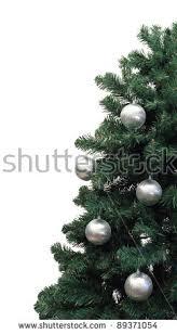 half tree silver balls stock photo 89371054