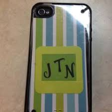 monogrammed scrapbook new iphone cover clear plastic with cut out inserts from