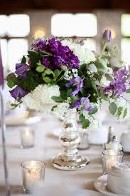 White Centerpieces Green Purple White Centerpiece Centerpieces Delphinium Greenery