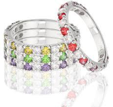 children s birthstone rings for mothers stackable family birthstone ring family rings to show each