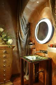 Small Powder Room Ideas Bathroom Extravagant Wall Mount Rounded Mirror Lights Over