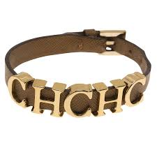 leather bracelet price images Carolina herrera ch logo leather bracelet buy sell lc jpg