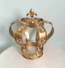 crown cake toppers sale vintage style gold crown cake topper for your wedding