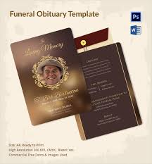 Downloadable Funeral Program Templates Sample Funeral Obituary Template 11 Documents In Pdf Psd Word