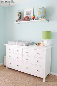 Ikea Wall Changing Table Nursery Dresser Organization