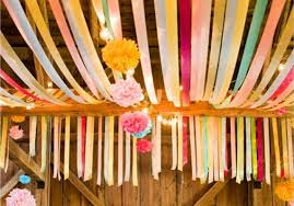 tissue paper streamers pretty streamers garland and bunting for your reception decor