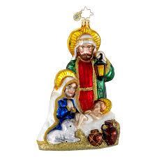 amazon com christopher radko glass heavenly family nativity