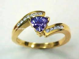 gem gold rings images Tanzanite rings genuine tanzanite rings jpg