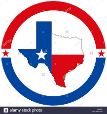 Texas Map Picture Texas Map Flag Icon Logo Banner Stock Photo Royalty Free Image
