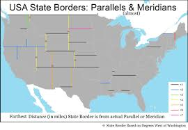 United States Latitude Longitude Map by Usa State Borders Parallels U0026 Meridians Most Western States Use