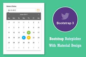 bootstrap design bootstrap date picker in material design css3 transition