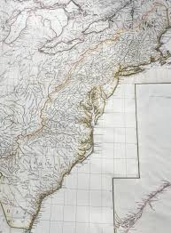 Great Lakes North America Map by 1755 D Anville Large Old Antique Map Of North America Great