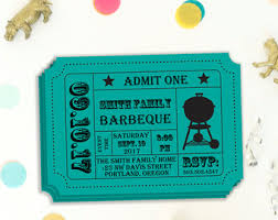 bbq tickets template barbecue invitation etsy