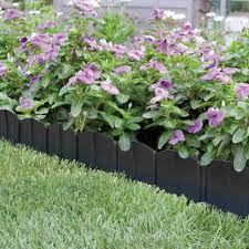 Steel Landscape Edging by Decor Black Metal Landscape Edging For Pretty Garden Decoration Ideas