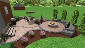 Patio Designs Pinterest Brick Paver Patio And Pit 3d Landscape Designs Pinterest