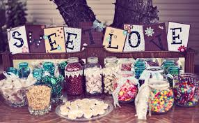Candy Table For Wedding Candy Table Jars Filled Wedding Ideas Pinterest Candy