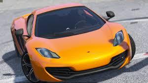 orange mclaren 12c 2014 mclaren mp4 12c spider hq replace gta5 mods com
