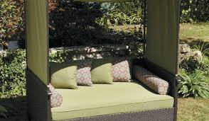 cabana design daybed spacious outdoor lounge bed design with green canopy and