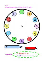 english worksheet let s make a clock classroom pinterest