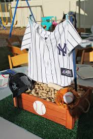 baseball centerpieces yankees baseball themed baby shower halfpint party design