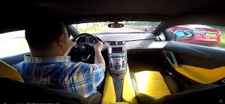 Lamborghini Aventador Noise - poorly staged aventador vs model s drag race is saved by the