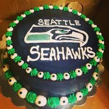 Seahawks Decorations Seahawks Cake Cakes Pinterest Seahawks Cake And Birthdays