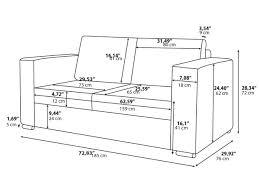 average size of couch average depth of sofa www stkittsvilla com
