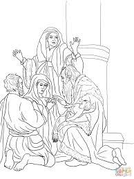 simeon and anna recognize the lord in jesus coloring page free