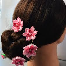 wedding flowers hair how to make pink flower hair comb for wedding pandahall