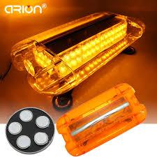 warning light bar amber blue amber white 580mm 80 led emergency lightbar flashing light