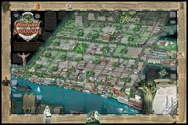 Savannah Ga Map Haunted Savannah Map