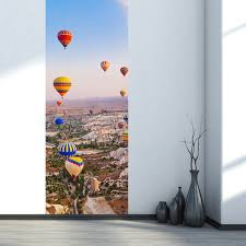 turkey air balloon 3d door wall sticker home decor decals