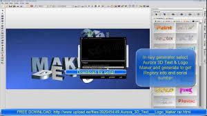 aurora 3d text u0026 logo maker download full u0026final version free