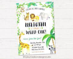 mod safari birthday party invitation on etsy 13 00 birthday