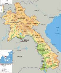 China Physical Map by Maps Of Laos Detailed Map Of Laos In English Tourist Map Of