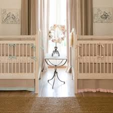 Ruffled Curtains Nursery by Light Pink Linen Crib Skirt Straight Carousel Designs