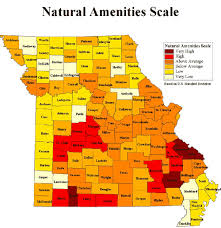 missouri map by population understanding amenities impacts on population and