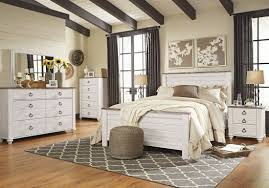 ashley furniture willowton panel bedroom set in whitewash best