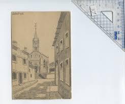 file landres 1916 pencil sketch art postcard signed p busse