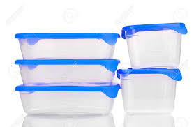 Container For Food Storage Plastic Containers For Food Isolated On White Stock Photo Picture