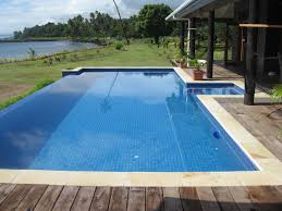 exquisite house designs with small swimming pool using blue