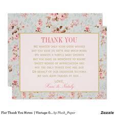 flat thank you notes vintage garden party card vintage garden