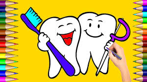 how to draw teeth teeth coloring page learning colouring
