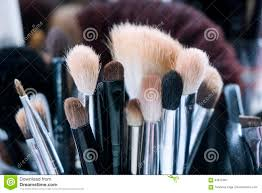 Professional Makeup Tools Professional Makeup Brushes In Tube Dirty Makeup Tools Stock