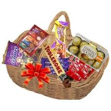 chocolate basket send chocolate basket with ferrero rocher online by giftjaipur in