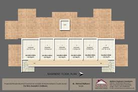 abhimanshree floor plans project 3d views in sangli basement floor plan