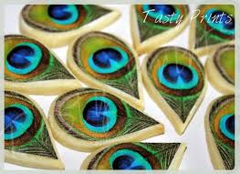 peacock favors items similar to 18 edible peacock feathers cookie decoration