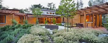 Home Courtyard Vine Hill Straw Bale Residence Arkin Tilt Architects