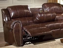 Brown Bonded Leather Sofa Brown Bonded Leather Sofa U0026 Chair Set W Reclining Seats